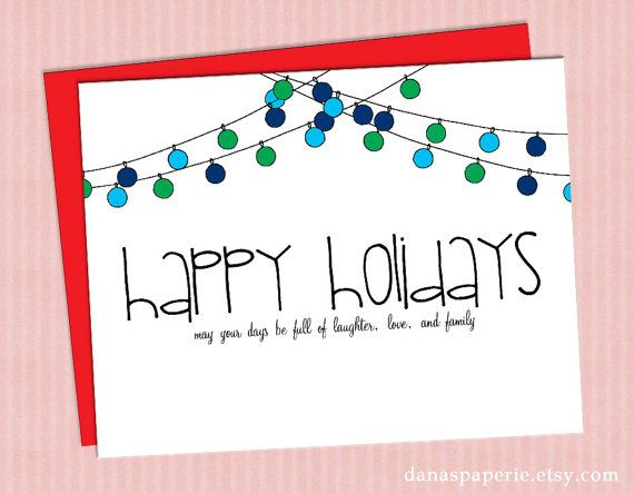 Hand drawn holiday greeting cards  Happy+Holidays+Card+Cute+holiday+cards+holiday+by+danaspaperie,+$2.99