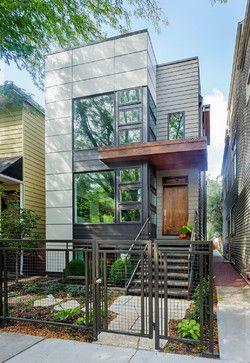 Chicago Net Zero Home - contemporary - exterior - chicago - Kipnis Architecture + Planning