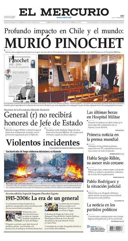 Portada de El Mercurio muerte de Pinochet 16CHIL_EM.jpg (image)