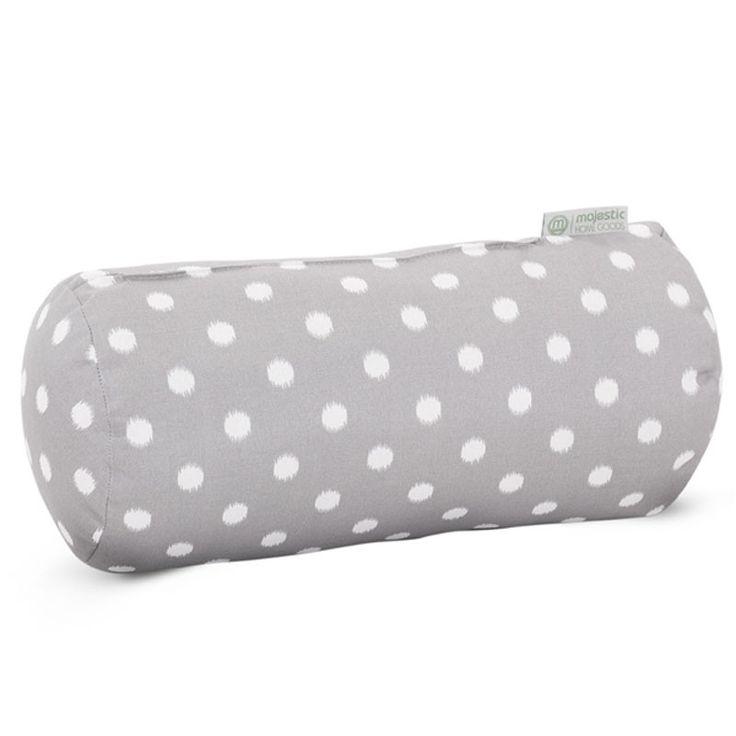 majestic home goods gray ikat dot round bolster pillow 185x8