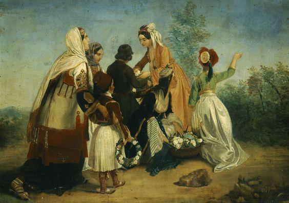 Η άφιξη του Όθωνα στην Αθήνα                                              Peter von Hess:Συλλογή Ιδρύματος Ε. Κουτλίδη.
