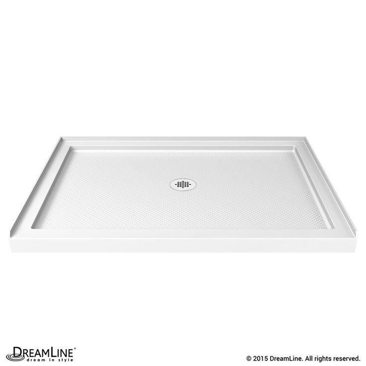 DreamLine SlimLine White Acrylic Shower Base (Common: 32 In W X 48