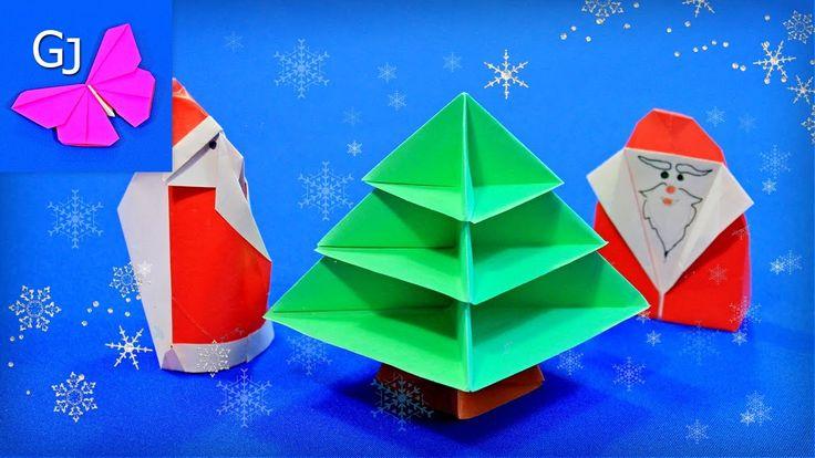 Оригами елка. Модульная елка из бумаги.