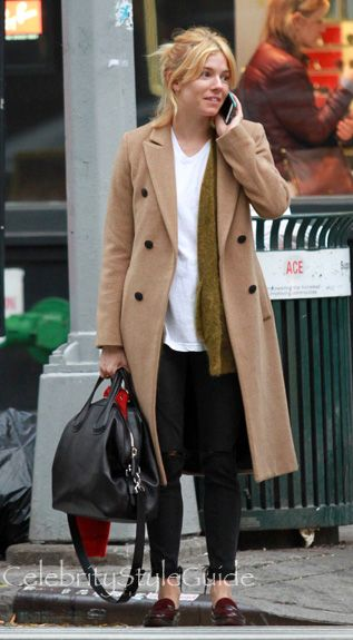 Go For Classic Style With Sienna Miller's Timeless Camel Coat By Rag & Bone