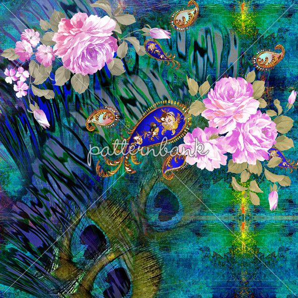 Peacock and Flowers Mix