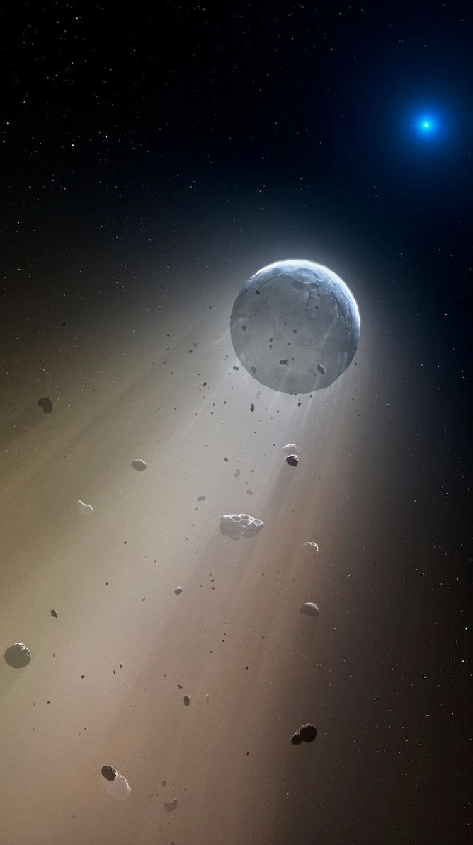 For the first time, researchers are seeing how white dwarf systems evolve directly confirmed in the night sky using NASA's Kepler space telescope. The star, white dwarf WD 1145+017, is currently destroying and disintegrating an orbiting planet bit by bit. Scientists are watching the death of a solar system. This particular white dwarf star is about 570 light-years from Earth in the constellation Virgo. (Oct 22, 2015; Journal of Science)