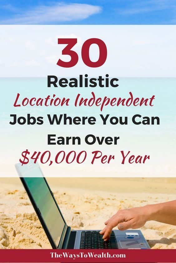 30 Legitimate online jobs where you can earn over $40,000 working from home or anywhere in then world!