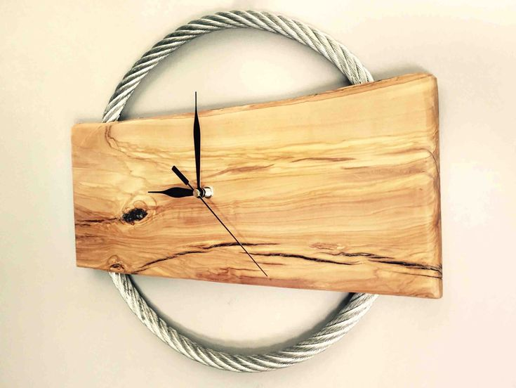 The 133 best Natural Wood Clocks images on Pinterest   Live edge ...