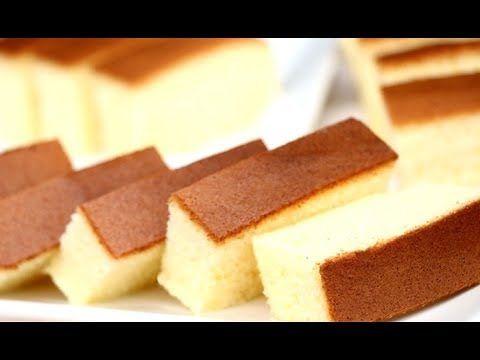How To Make Cotton Soft Sponge Cake   Castella Cake Recipe - YouTube