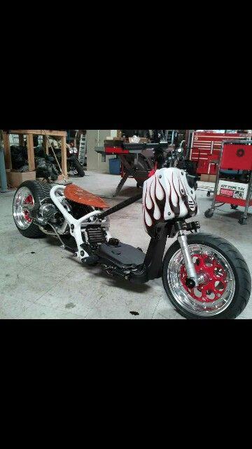 Flamed   Honda ruckus, Honda bikes, Honda