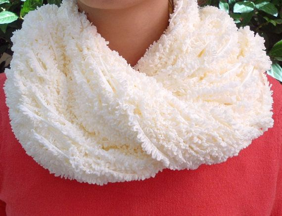 Arm Knit Scarf - Cream Long Knit Scarf - Soft Scarf - Winter Scarf - Web like Scarf - Delicate Lacy scarf - Womens Acccessory - Womens Gift