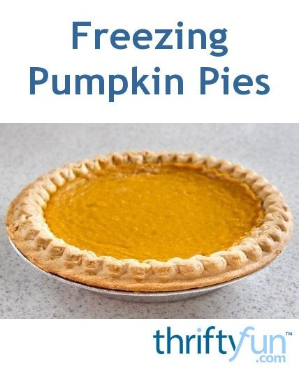 This is a guide about freezing pumpkin pies. Making your own pumpkin pies ahead of time can make meal preparation easier.