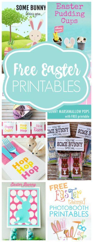 Free Easter Printables - Pretty My Party #freeeasterprintables