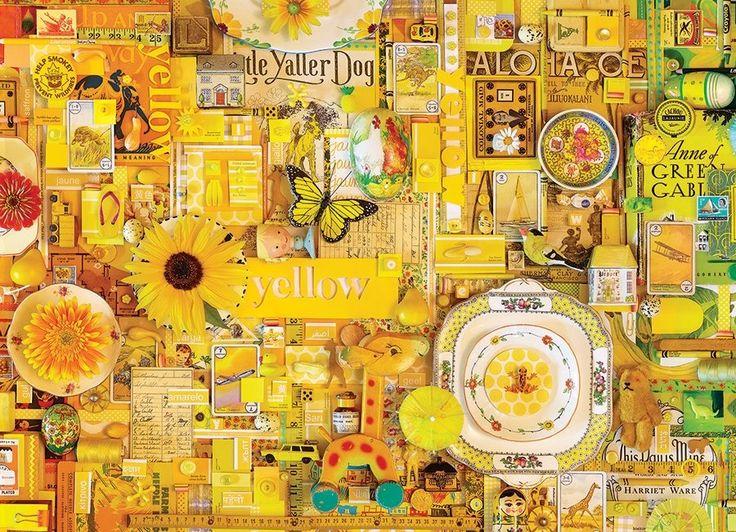 Puzzle COBBLE HILL 51863 Barvy duhy: Žlutá 1000 dílků