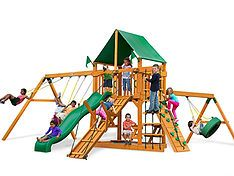 Shop Backyard Imagination for Wood Swing Sets to match every style & budget. Playsets by Cedar Summit, Backyard Discovery, Gorilla, & Big Backyard.