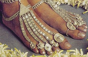foot ornaments at a Coorgi wedding