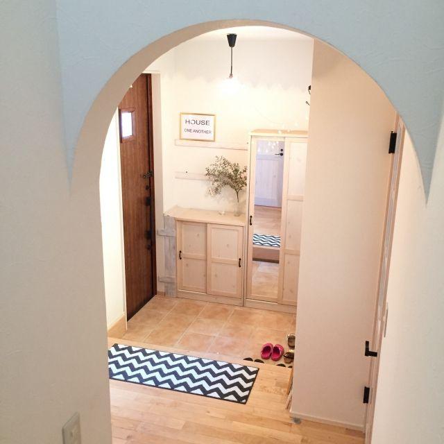 Riiさんの、玄関/入り口,玄関,100均,セリア,玄関マット,玄関ドア,ユーカリ,ベルメゾン,のお部屋写真