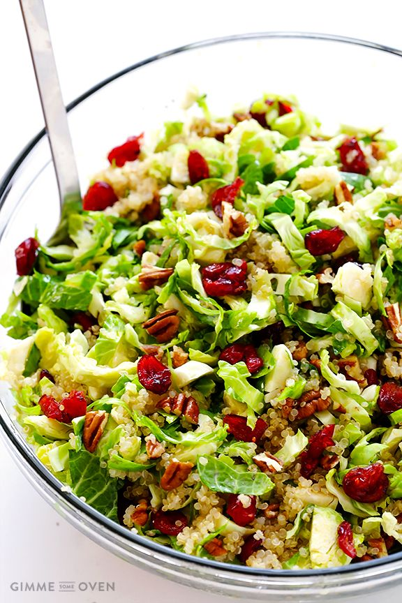 Brussels Sprouts, Cranberry and Quinoa Salad | gimmesomeoven.com