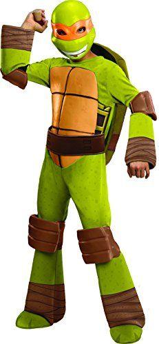 Teenage Mutant Ninja Turtles Deluxe Michelangelo Costume, Small | Amazon Hot Sales
