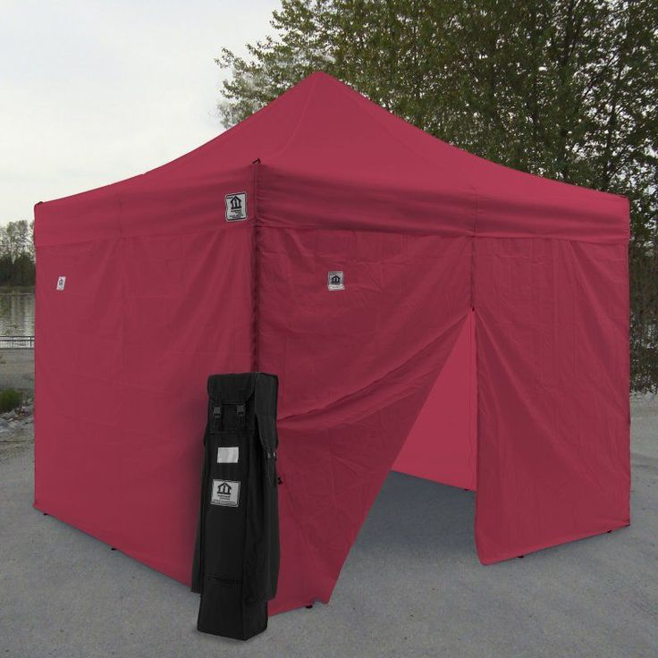 Impact Canopy AOL 10x10 ft. Ez Pop Up Canopy Tent Instant Canopy Aluminum with Wheeled : 10x10 canopy tents - memphite.com