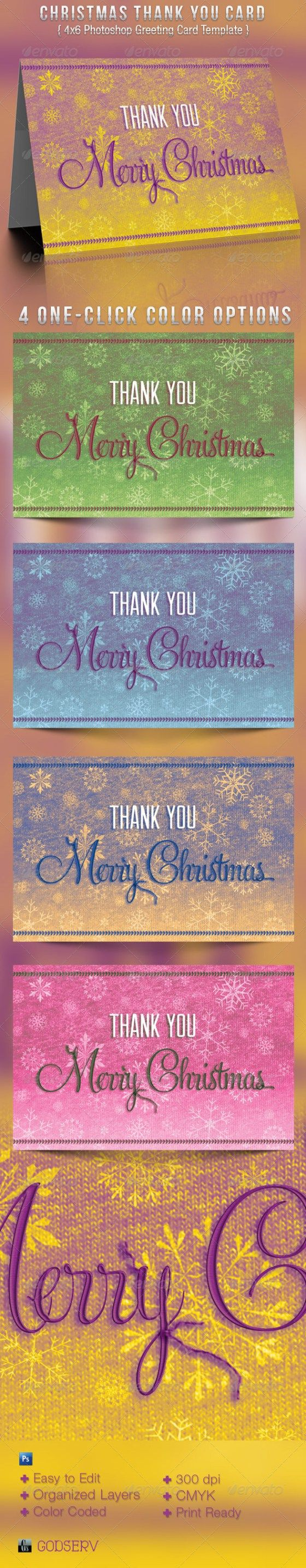 17 best images about christmas print templates christmas thank you greeting card template graphicmule
