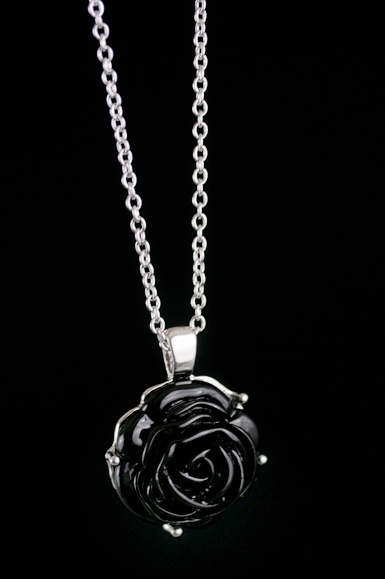 Black Rose necklace. One of my faves