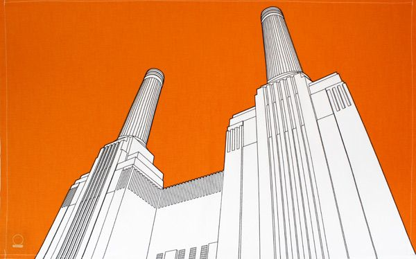 Battersea Power Station tea towel by People Will Always Need Plates - Designer tea towels from ToDryFor.com