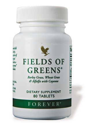 With today's busy lifestyles & convenient fast food, we all too often neglect fresh, green foods. Fields of Greens provides a simple solution. One glance at its ingredient list reveals a cornucopia of green foods to help fill this gap. Also high in fibre.  80 tablets £10.24