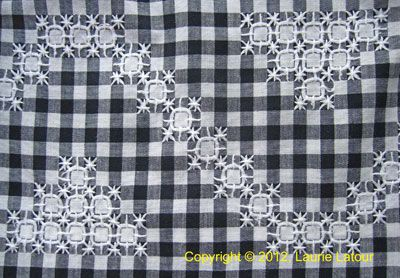 Gingham Lace...aka Chicken Scratch Embroidery. An easy way to teach kiddos to embroider. From Needle 'n Thread.