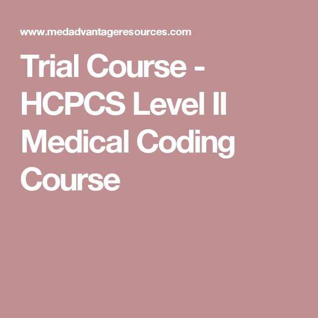 Trial Course - HCPCS Level II Medical Coding Course