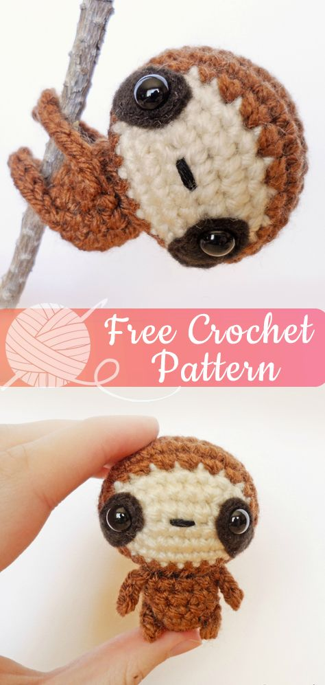 Zippy the Baby Sloth [CROCHET FREE PATTERNS] – All About Crochet