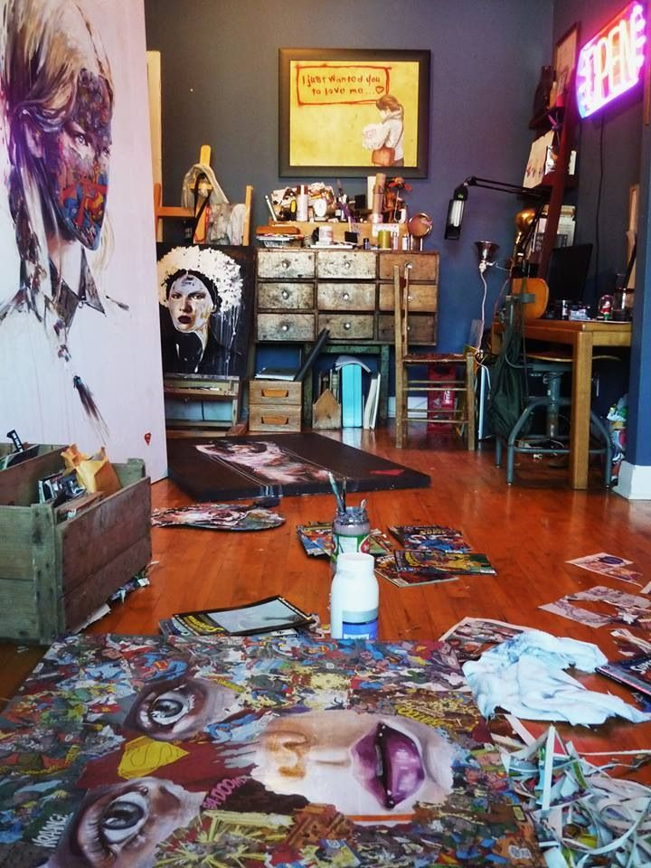 I've always wanted an art studio, somewhere that's just, mine...