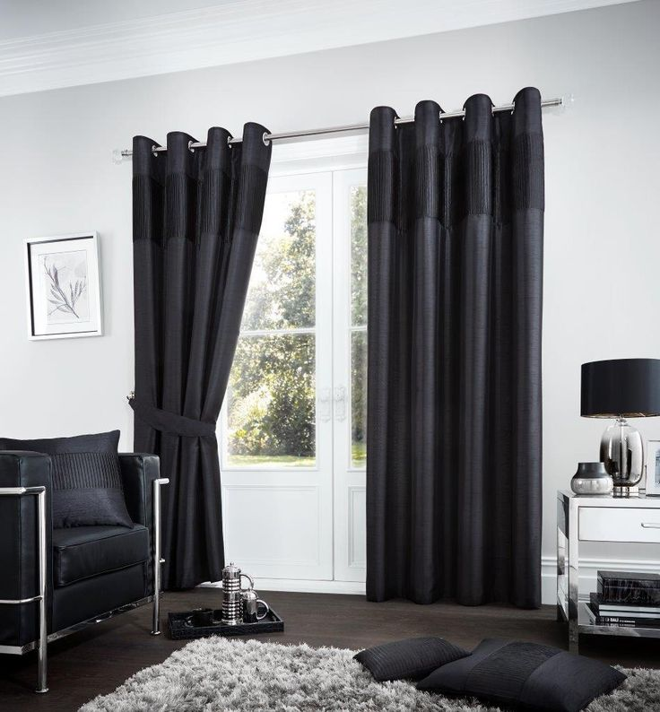 Fuel Lined Eyelet Curtains | Black – Linens Range