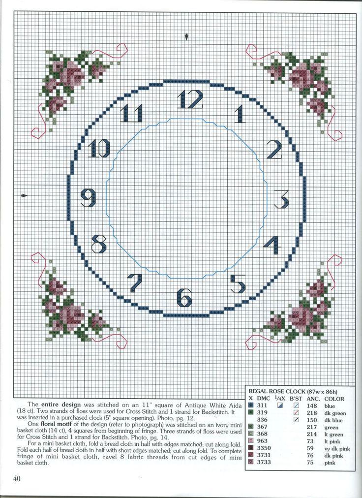 how to make a cross stitch clock