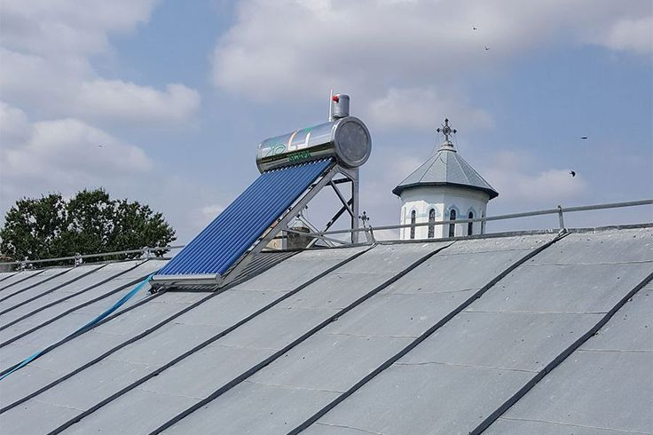 Panou solar apa calda INOX nepresurizat 100 litri - cu vas flotor