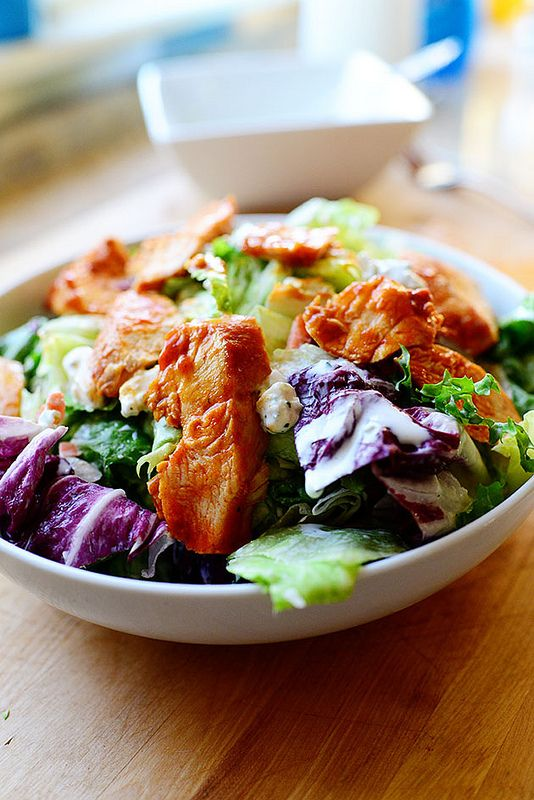 If wings and a salad got married. To die for!