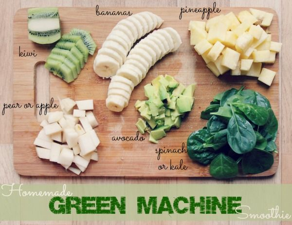 Healthy homemade green machine smoothie - my only problem with this is that I absolutely HATE avocado.