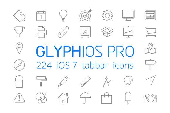 iOS 7 tabbar icons by GLYPHIOS