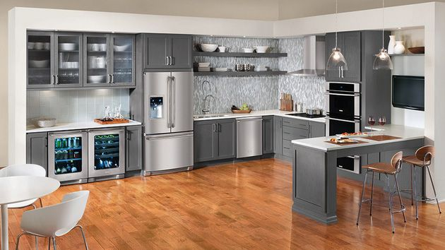 Gray Kitchen Cabinets Color Ideas | 15 Warm and Grey Kitchen Cabinets | Home Design Lover