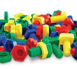 Learning-Resources-Attribute-Nuts-Bolts-Set-of-64 #toddler toys #toys for toddlers #toys for kids #cheap toys #toys for 1 year old #best toys