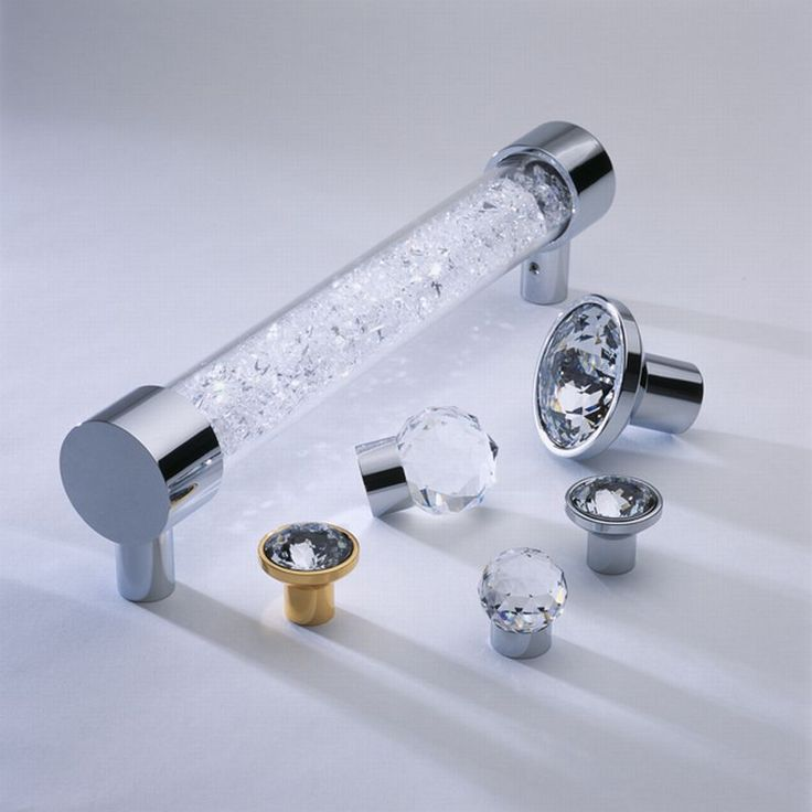 Cabinets and Hardware -- Swarovski Crystal Knobs and Door Pulls
