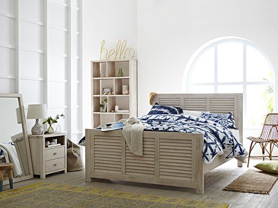 Ocean Grove Louvre Bed Frame: Queen Bed Frame (Louvre)
