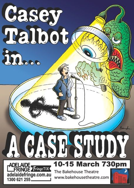 Casey Talbot's 'A Case Study' comedy @ Adelaide Fringe 2014 #adlfringe #adelaide #ACaseStudy