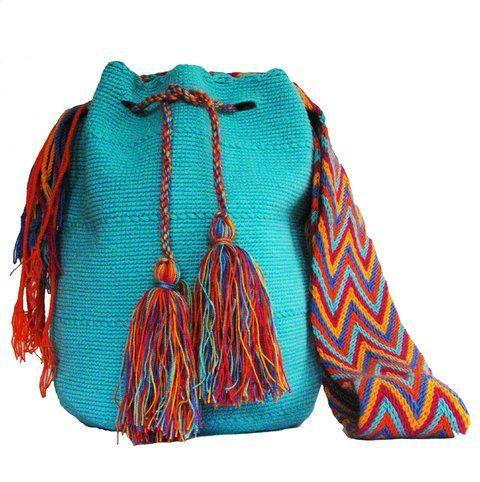 Turquoise Bag /Mochila Wayuu Turquesa