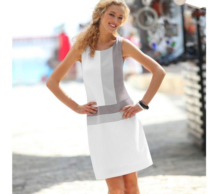 Šaty s grafickým vzorem, úplet Milano   blancheporte.cz #blancheporte #blancheporteCZ #blancheporte_cz #dress #saty