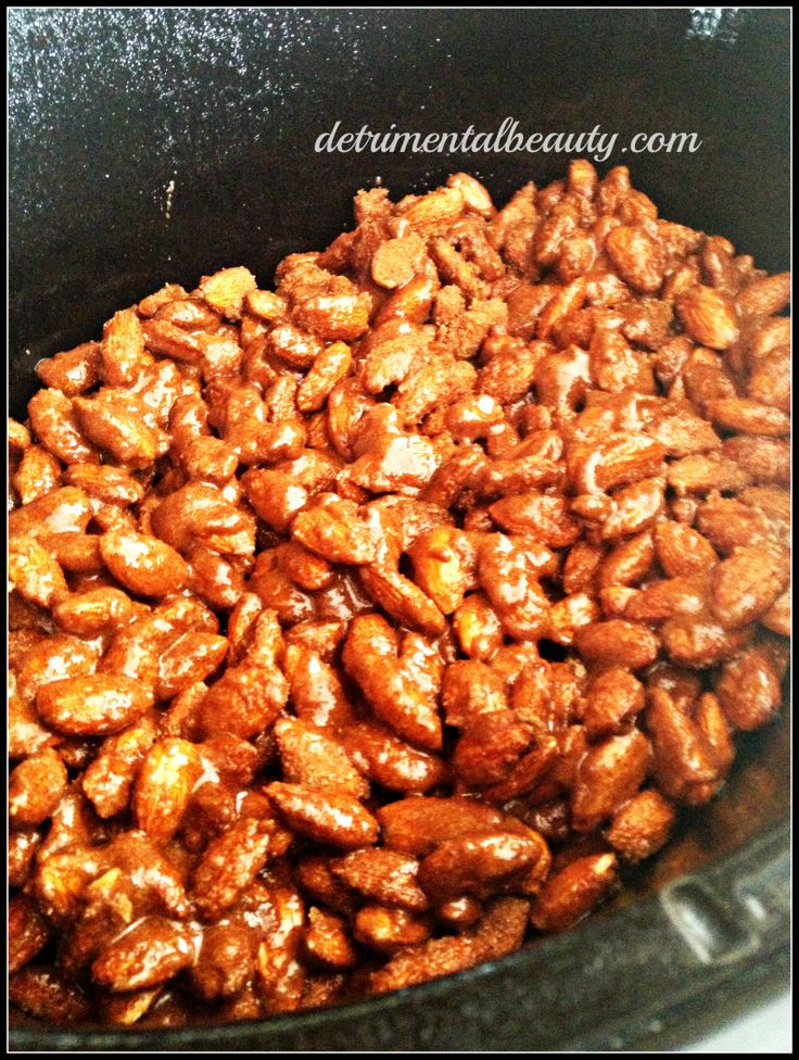 Slow Cooker cinnamon roasted almonds | Appetizers/Munchies | Pinterest