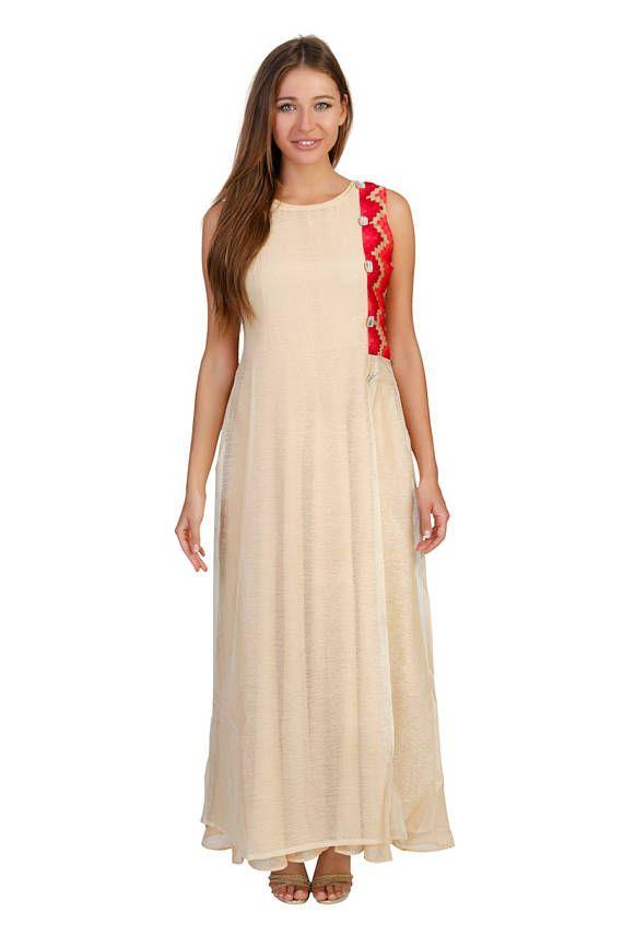 Beige  Party Dress