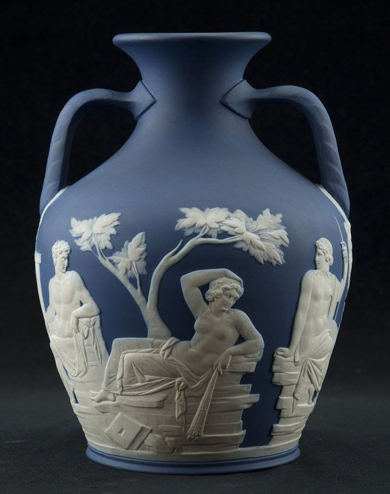 Early Small Wedgwood Blue Portland Vase Please Visit The