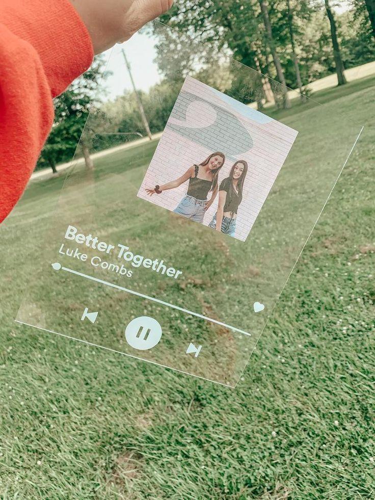 Diy glass spotify song in 2020 diy best friend gifts