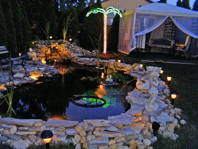 pond lighting ideas. Love This Pond Idea Must Have Taken Some Work Though Lighting Ideas
